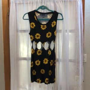 Kendall & Kylie sunflower mini dress